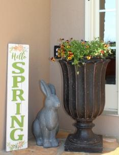 Hello Spring Front Porch