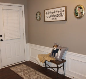 judges paneling adds extra character and definition to the entryway